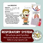 Respiratory System Human Body PowerPoint and Lessons {FREE}