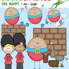 Humpty Dumpty (Stick Humpty)- Clipart for Teachers and Classrooms