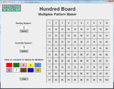 Hundred Board Multiples Software Activity and Instructions