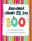 Hundred Chart Fill Ins