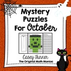 Hundreds Board Color By Number Mystery Puzzles for October