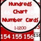 Hundreds Pocket Chart Number Cards 1 - 1,200 {for games an