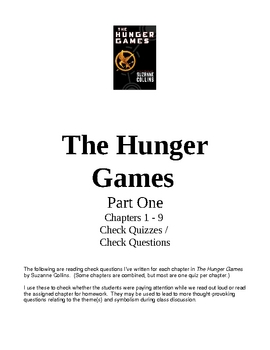 Hunger Games Chapters 1-27 Q & A, Arena Activity, Chap. Su