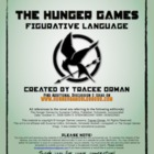 &quot;Hunger Games&quot; Figurative Language Lesson Activity Worksheet