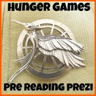 Hunger Games Pre Reading Prezi with Handout