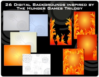 Hunger Games Trilogy Inspired Clip Art Digital Paper