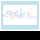 """""""Hunger Games"""" Trilogy Word Art Prints - Catching Fire - M"""