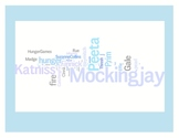 """Hunger Games"" Trilogy Word Art Prints - Catching Fire - M"