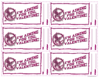 Hunger Games Valentine Cards Free Printables