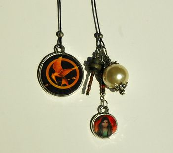 Hunger Games and Catching Fire Inspired Beaded Bookmark
