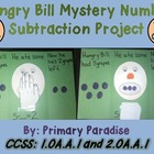 Subtraction: Hungry Bill Mystery Number (Missing Subtrahen