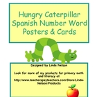 Hungry Caterpillar: Spanish Number Word Posters and Cards