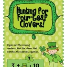 Hunting for Four Leaf Clovers - Missing Numbers + -