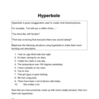 Hyperbole Worksheet