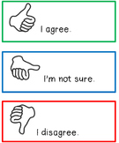 I Agree, I Disagree Hand Signal Chart
