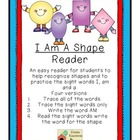 I Am A Shape Emergent Reader