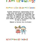 I Am Growing Mini Book About the Human Life Cycle