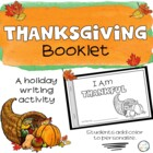 I Am Thankful - a Thanksgiving mini book