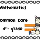 I CAN: 4th grade mathematics Common Core ZEBRA