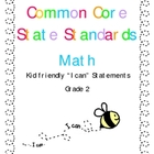 &quot;I CAN&quot; Statements for Common Core Standards Math Gr. 2