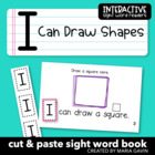 """Interactive Sight Word Reader """"I Can Draw Shapes"""""""