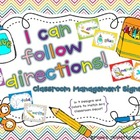 I Can Follow Directions! {Editable!} Classroom Signs