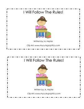 I Can Follow The Rules! Emergent Reader