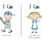 """I Can"" High-Frequency Word Book and Writing Prompt"