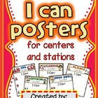 I Can Posters for 17 Centers (Editable!) 68 posters in all!