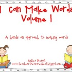 I Can Make Words Volume 1