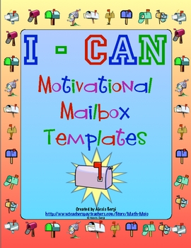 I-Can Motivational Mailbox Template