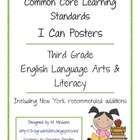 I Can Posters - Common Core ELA - New York - Third Grade