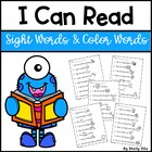 I Can Read Sight Words-Printables and Games
