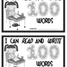 I Can Read and Write 100 Words