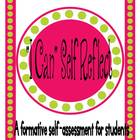 """I Can"" Self Reflect...Student Checklist"