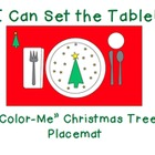"I Can Set the Table: ""Color Me"" Christmas Tree Placemat"