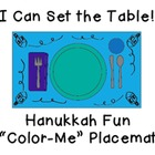 "I Can Set the Table: ""Color-Me"" Hanukkah Placemat"