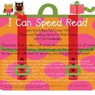 I Can Speed Read {Treasures Unit Five}