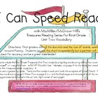 I Can Speed Read {Treasures Unit Two}