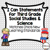 I Can Statements for Third Grade Ohio Science and Social Studies