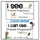 VERBS... Present Progressive Verbs Adapted Book Bundle Aut