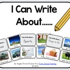 I Can Write About...  Picture Cards