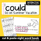 "Interactive Sight Word Reader ""I Could Go on Summer Vacation"""