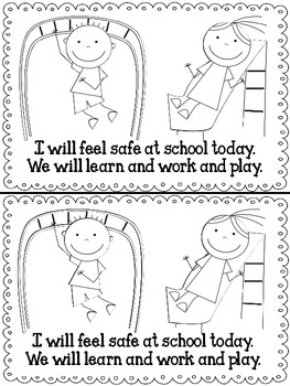 I Feel Safe {A book to reassure students that school is safe.}