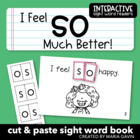 "Interactive Sight Word Reader ""I Feel SO Much Better!"""