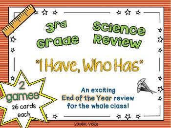 """I Have, Who Has"" 3rd Grade Science 2-VA SOL"