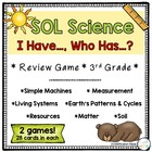 I Have, Who Has 3rd grade Science Review-VA SOL