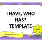 I Have, Who Has All Subjects Template - Suzanne Ramjass