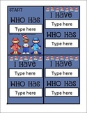 I Have Who Has Card Template with a Reading Kids theme