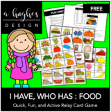 I Have, Who Has: Food (30 Cards)